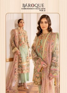 BAROQUE EMBROIDERED COLLECTION VOL 2 PAKISTANI SUITS BY SHREE FABS