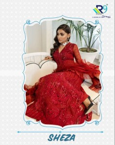 R9 SHEZA PAKISTANI SALWAR KAMEEZ CATALOGUE