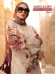 SHREE FABS MARIYA B LAWN SPRING SUMMER 20 VOL 1 PAKISTANI SUITS SUPPLIER