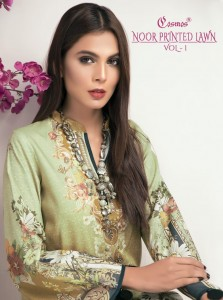 COSMOS NOOR PRINTED LAWN VOL 1 SALWAR SUITS ONLINE SHOPPING