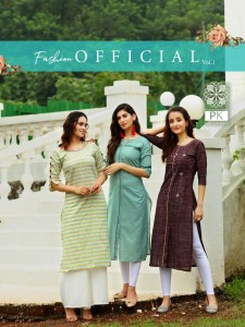 PK FASHION OFFICIAL VOL 1 KURTIS MANUFACTURER SURAT