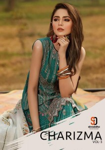 SHRADDHA DESIGNER CHARIZMA VOL 3 WHOLESALE SALWAR SUITS