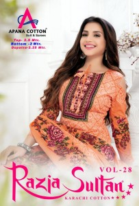 RAZIA SULTAN VOL 28 KARACHI SUITS DEALER
