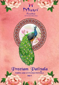 MISHRI CREATION PRITAM PATIYALA DREESE MATERIAL COLLECTION