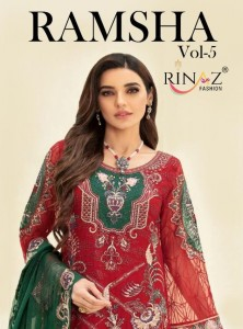 RINAZ RAMSHA VOL 5 5601 TO 5605 CATALOGUE