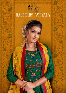 BALAJI RASBERRY PATIYALA  COTTON SUITS COLLECTION