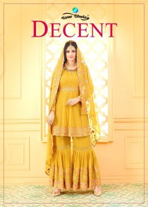 YOUR CHOICE DECENT 3678 TO 3681 SHARARA SUITS COLLECTION