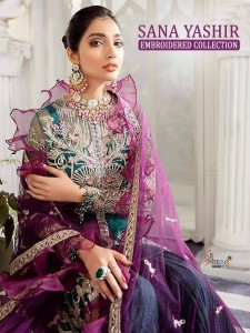SHREE FABS SANA YASHIR EMBROIDERED COLLECTION LATEST CATALOGUE