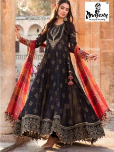 MAJESTY MARIA B LAWN VOL 7 PAKISTANI SUITS BEST PRICE
