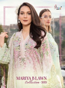 SHREE FABS MARIYA B LAWN COLLECTION 2021 PAKISTANI SUITS SUPPLIER