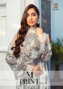 SHRADDHA DESIGNER M PRINT VOL 7 PAKISTANI SUITS WHOLESALE