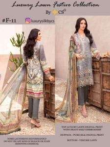 CS LUXURY LAWN FESTIVE COLLECTION VOL 3 PAKISTANI SUITS WHOLESALE