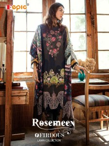 FEPIC ROSEMEEN FIRDOUS LAWN COLLECTION PAKISTANI SUITS LATEST CATALOGUE