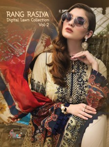 SHREE FABS RANG RASIYA DIGITAL LAWN COLLECTION VOL 2 1265-1270 SERIES PAKISTANI SUITS