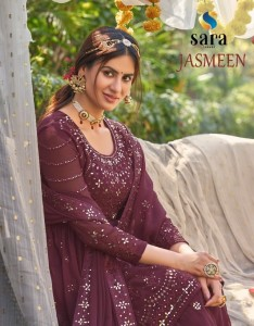 SARA JASMEEN GEORGETTE SUITS  LATEST CATALOGUE