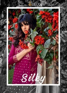 IBIZA SILKY 879 TO 886 SERIES SILK SUITS LATEST COLLECTION 2021