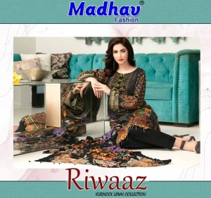 MADHAV FASHION RIWAAZ COTTON PRINTED LAWN SUITS AT CHEAPEST PRICE