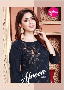 LAPINK AFREEN VOL 2 READYMADE STITCHED KURTIS WHOLESALER