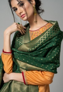 RVEE GOLD MIRAYA  PURE CHANDERI DRESS MATERIAL WHOLESALE