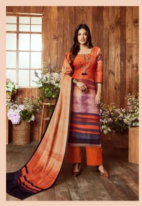 SARGAM PRINTS AFEEM PASHMINA SUITS WITH STALL