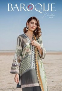 BAROQUE KHADDAR  PAKISTANI LAWN SUITS WHOLESALE IN SURAT