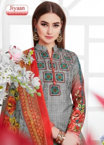 JIYAAN KARACHI COTTON DRESS MATERIAL