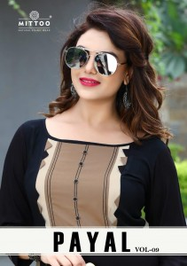 MITTOO  PAYAL VOL 9 KURTI WHOLESALE CATALOGUE  AT RS 445 CHEAPEST PRICE