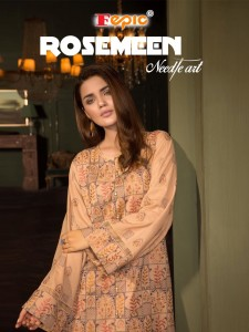 FEPIC ROSEMEEN NEEDLE ART DESIGNER SALWAR SUITS AT CHEAPEST PRICE