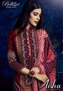 BELLIZA DESIGNER STUIDO AISHA VOL 5 PASHMINA WHOLESALE SALWAR SUITS