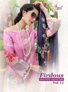 SHREE FABS FIRDOUS VOL 12 1302-1306 PAKISTANI SUITS