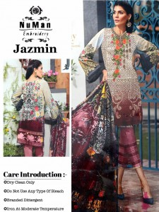 NUMAN EMBROIDERY PAKISTANI REPLICA SUITS WHOLESALE