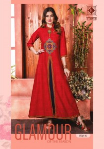 BUY ONLINE KIANA CROWN RAYON KURTIS WHOLESALE SUPPLIER SURAT