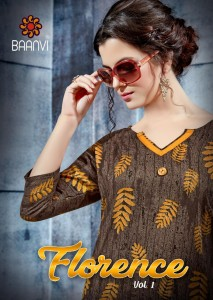 BAANVI FLORENCE VOL 1 WHOLESALE KURTIS SUPPLIER IN SURAT CHEAPEST PRICE
