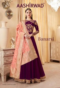 AASHIRWAD CREATION BANARASI SALWAR KAMEEZ CATALOGUE CHEAPEST