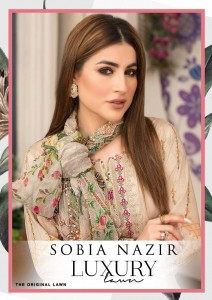 SOBIA NAZIR LUXURY THE ORIGINAL LAWN COLLECTION SN921-SN926 SERIES