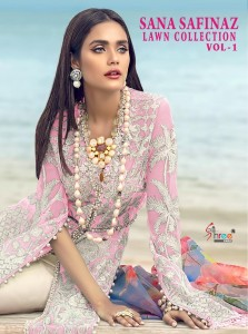 SHREE FABS SANA SAFINAZ LAWN COLLECTION VOL 1 1271-1276  PAKISTANI SUITS