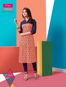DIYA TRENDS TOWN BEAUTY VOL 1 WHOLESALE KURTIS MANUFACTURER