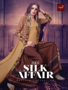 KRISHRIYAA SILK AFFAIR VOL 6 SILK KURTI AT CHEAPEST PRICE