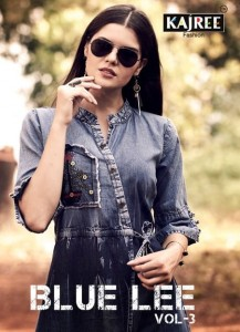 BLUE LEE VOL 3 DENIM KURTIS MANUFACTURERS BY KAJREE FASHION SURAT