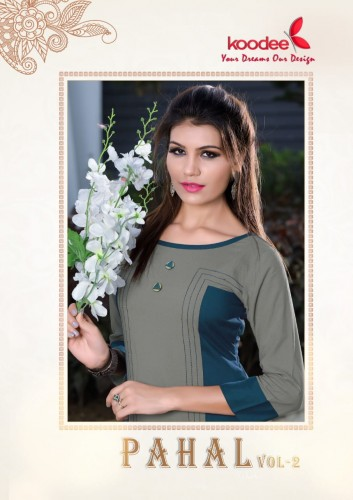 KOODEE PAHAL VOL 2 CASUAL WEAR KURTIS CATALOGUE MANUFACTURER SURAT (1).jpg