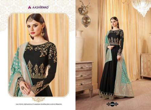 AASHIRWAD CREATION BANARASI LATEST SUITS CATALOGUE WITH PRICE (3).jpeg