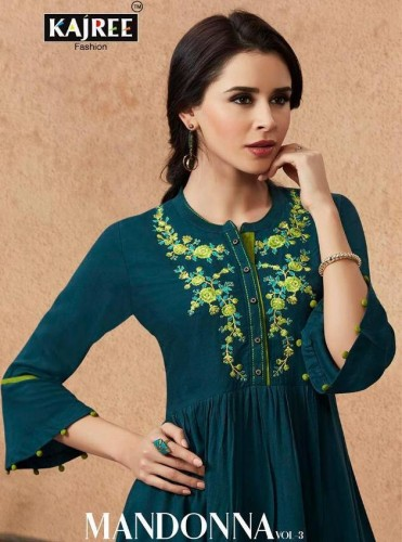 KAJREE FASHION MANDONNA VOL 3 TOP WITH BOTTOM LATEST COLLECTION AT WHOLESALE (14).jpeg