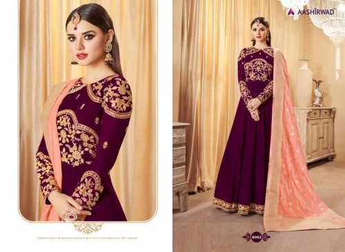 AASHIRWAD CREATION BANARASI LATEST SUITS CATALOGUE WITH PRICE (4).jpeg