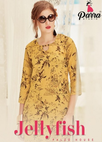 BUY ONLINE PARRA STUDIO JELLYFISH RAYON WHOLESALE DESIGNER KURTIS CHEAPEST d470ca350