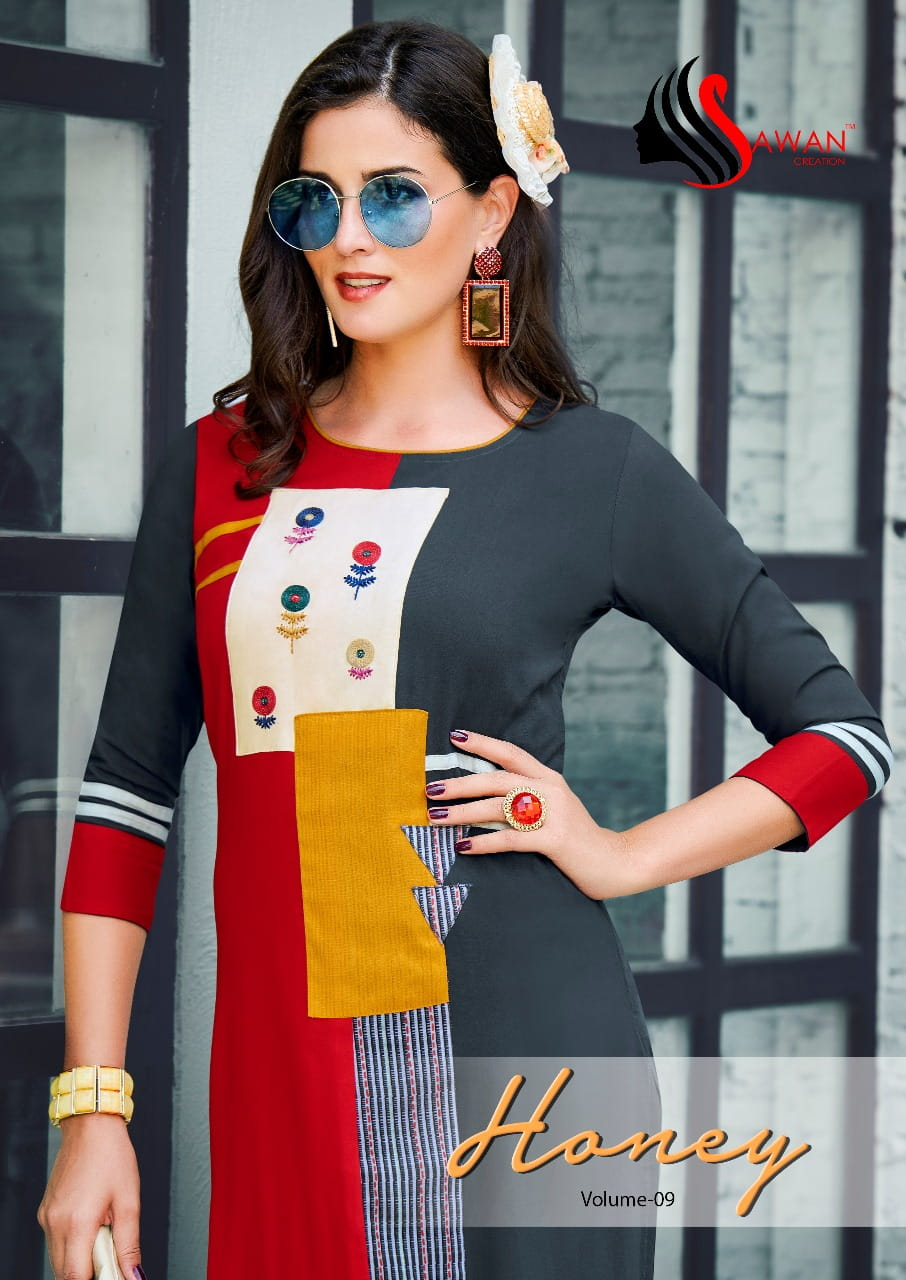 79dbbeb6ad SAWAN HONEY VOL 9 RAYON KURTIS MANUFACTURER (3).jpeg