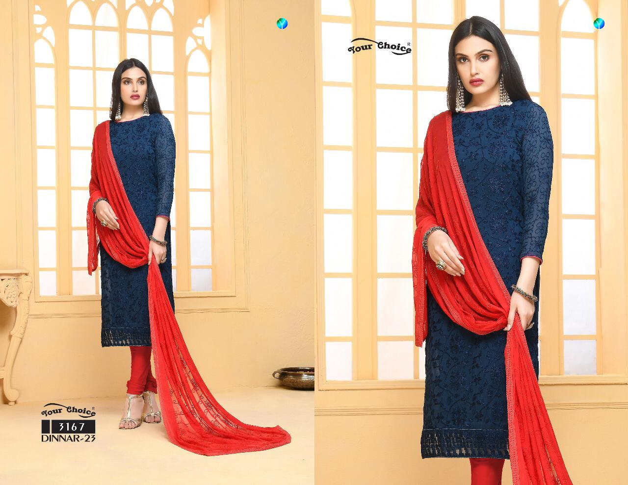 5db7264569 YOUR CHOICE DINNAR VOL 23 PAKISTANI SUITS AT CHEAPEST PRICE