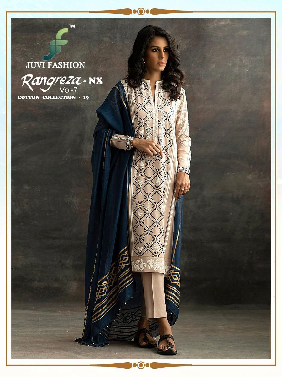 8f315a11d0 JUVI FASHION RANGREZA VOL 7 NX COTTON COLLECTION 19 PAKISTANI SUITS  WHOLESALER (10).
