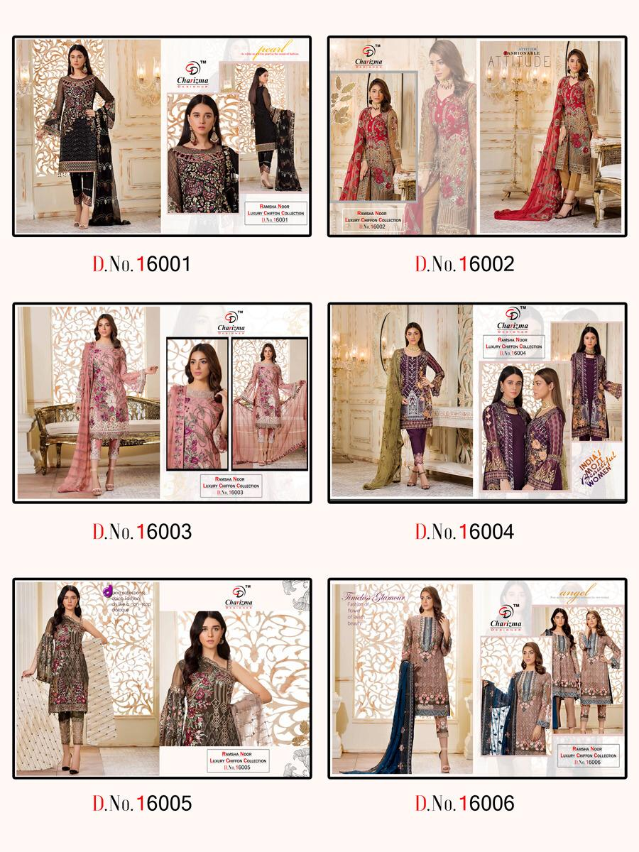 CHARIZMA RAMSHA NOOR LUX CHIFFON TOP 10 ONLINE WHOLESALE CLOTHING SHOP