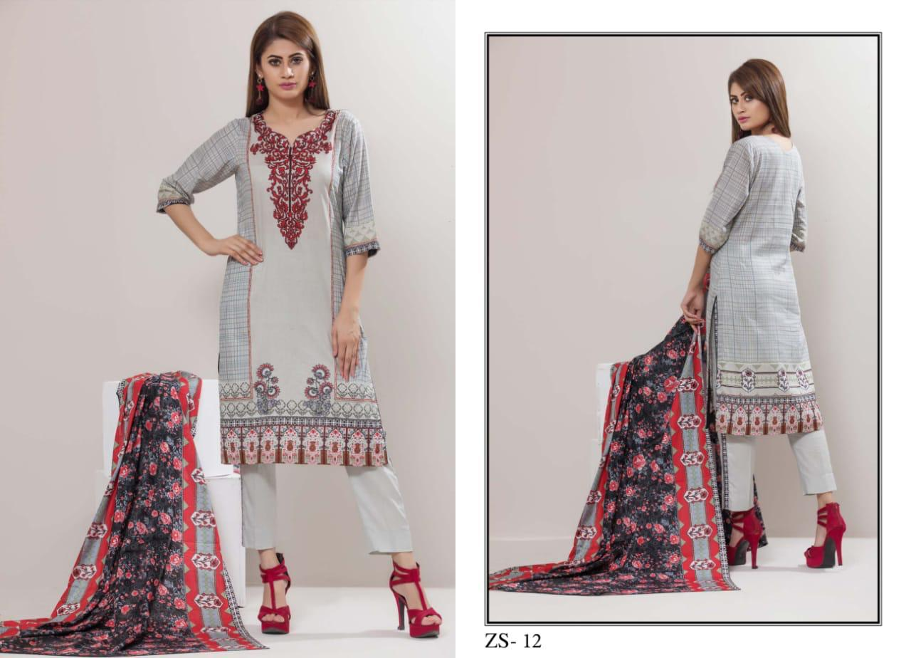 109be5225a ZS TEXTILE RANGREZA VOL 9 LAWN COTTON DRESS MATERIAL AT BEST PRICE (9).