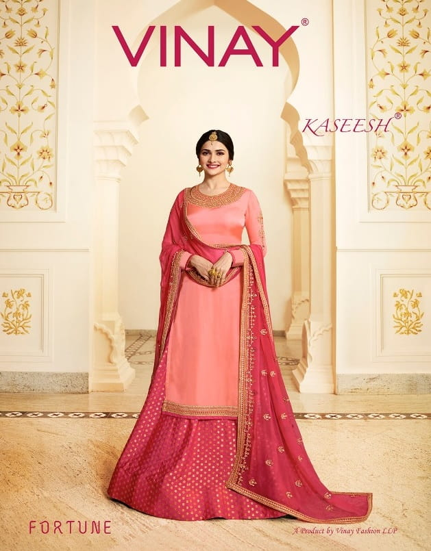 c106bc8eab VINAY FASHION KASEESH FORTUNE LATEST CATALOGUE SUITS WITH PRICE